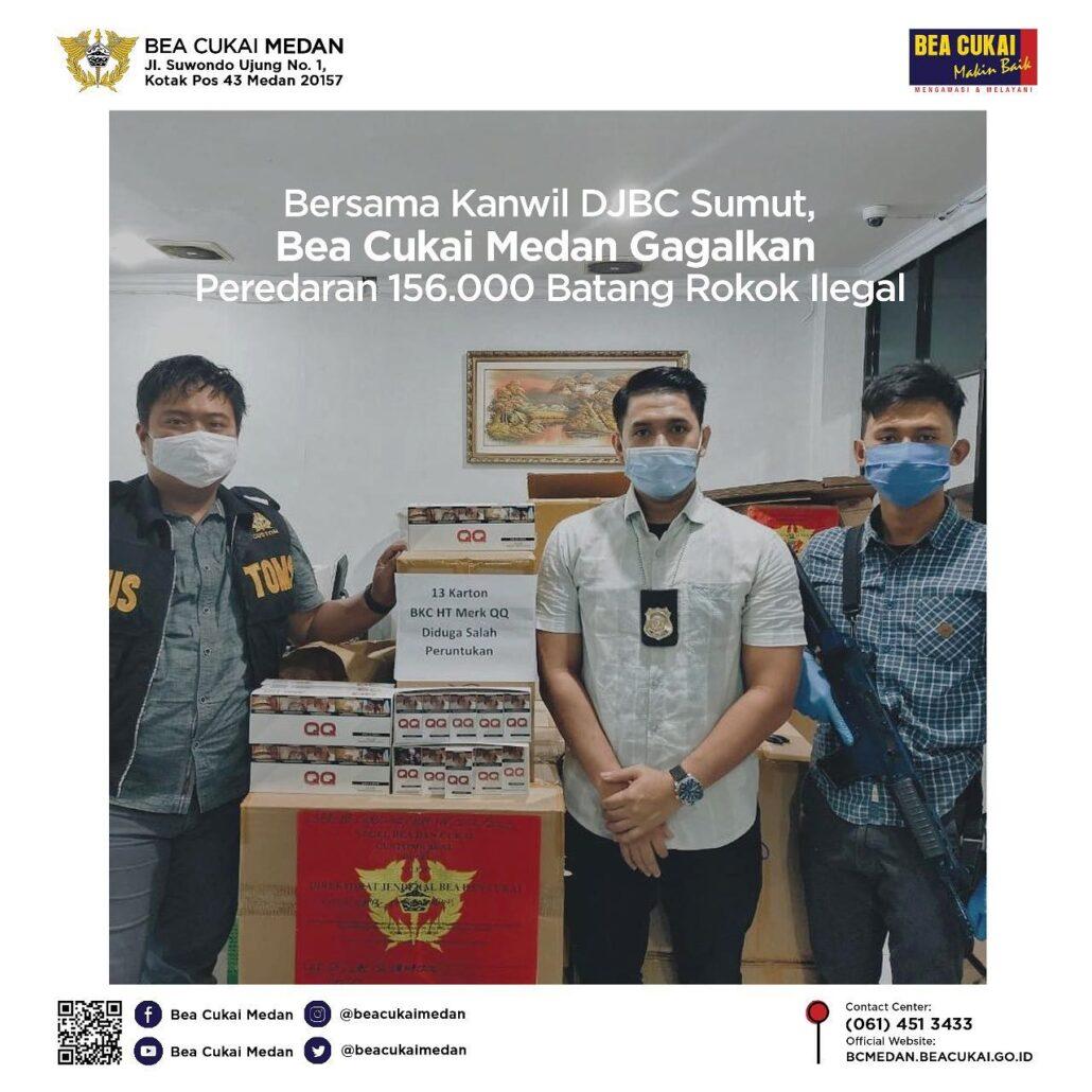 Bersama Kanwil Djbc Sumut Bea Cukai Medan Gagalkan Peredaran 156 000 Batang Rokok Ilegal Beacukai Medan
